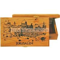 Large Olive Wood Box - Temple Mount
