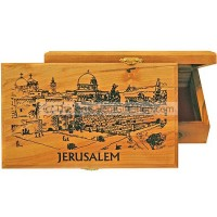 Large Olive Wood Box - Temple Mount