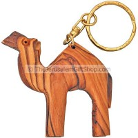 Keychain - Camel from Olive Wood