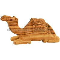 Olive Wood Camel Sitting