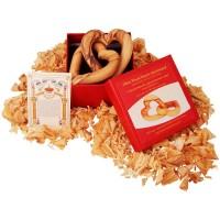 Hearts Intertwined - Olive Wood 'I Am My Beloved's' - 'Ani LeDodi Veh Dodi Li' with a Ketubah (Jewish Wedding Contract) in Wedding Gift Box