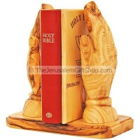 Praying Hands Bible Stand - Olive Wood
