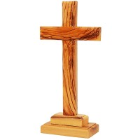 Olive Wood Standing Cross - Made in Bethlehem - 3 Sizes
