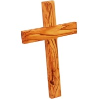 Olive Wood Wall Cross from Jerusalem - Hand made in the Holy Land