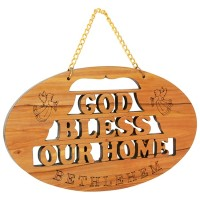 God Bless Our Home Olive Wood Wall Plaque