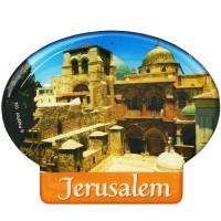 Oval 'Jerusalem' Fridge Magnet