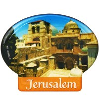 Oval 'Jerusalem' Fridge Magnet