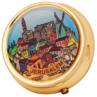 Jerusalem Pill Box - Brass
