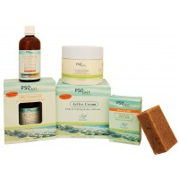 PSOEasy Psorasis Treatment Kit - Psoriasis Cream 250 ml - Mild Natural Oil - Psoriasis Soap - Contains Dead Sea minerals