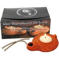 Replica Clay Oil Lamp - Roman fishes