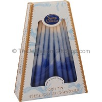Hanukah Candles - Blue and White