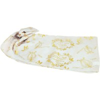 Biblical Scarf - I Am My Beloved's - White and Gold