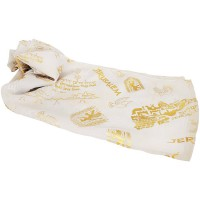 Biblical Scarf - Pray For The Peace of Jerusalem - White
