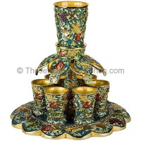 Seven Species Wine Fountain - Turquoise
