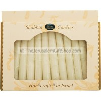 Safed Shabbat Candles - Off White - Made in Israel