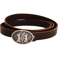 Joshua and Caleb Belt Buckle - Sterling Silver