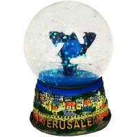 Snow Ball - Jerusalem with Star of David - Colored