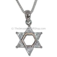 Star of David Crystal Pendant