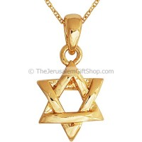 Star of David - Interwoven - Gold Fill Pendant