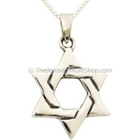 Star of David Silver Lattice Pendant