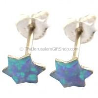 Opal Star of David Stud