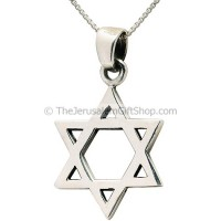 Star of David Silver Pendant