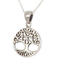 'Tree of Life' with Roots and Branches formed into Hearts - Sterling Silver Pendant