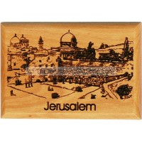 Olive Wood Magnet - The Western Wall
