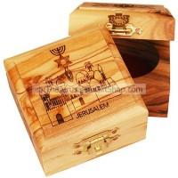 Small Olive Wood Grafted In Jerusalem Box