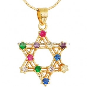 Twelve Tribes Star of David Goldfill Pendant