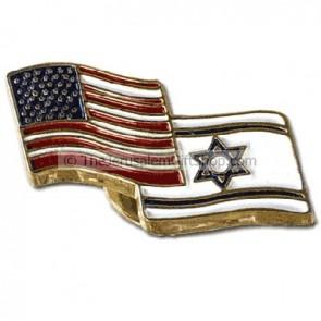 Lapel Pin America Israel Flag
