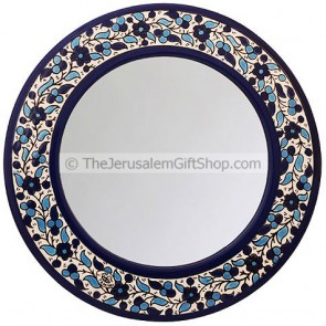 Armenian Ceramic Flowered Mirror