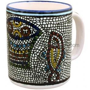 Large Armenian Ceramic 'Tabgha' Mug