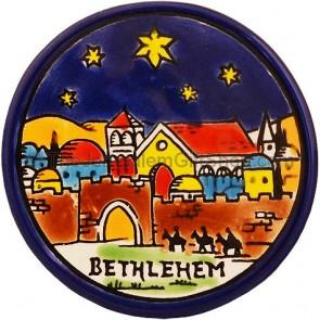 Coaster - Bethlehem at Night with Stars