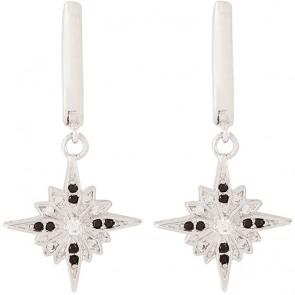 White gold-filled 'Bethlehem Star' Earrings with Zircon