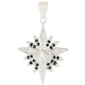 White gold-filled 'Bethlehem Star' Pendant with Zircon