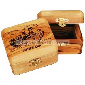 Olive Wood Noah's Ark Box