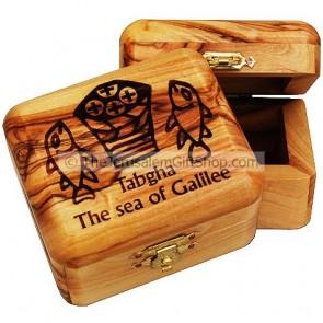 Olive Wood Tabgah Box