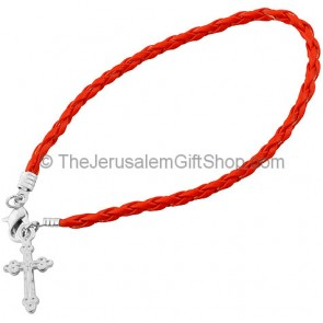Friendship Cross Bracelet - Red
