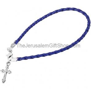 Friendship Cross Bracelet - Blue