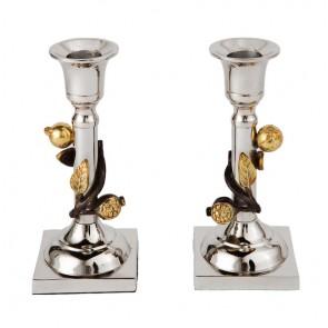 Yair Emanuel Pomegranate Vine Candlesticks