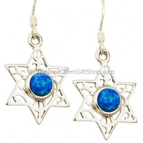 Star of David with Opal Earrings