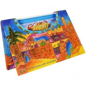 10 Large Notelets With Envelopes - Jerusalem