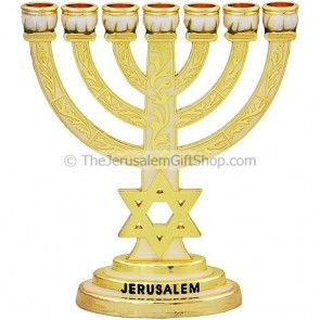 Star of David Enameled Menorah