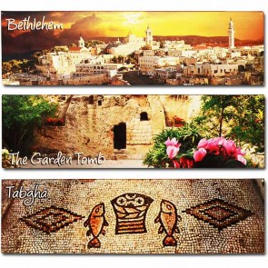 Panoramic Fridge Magnets Set of 3 - Pilgrim Sites