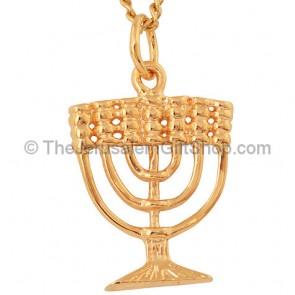 Gold Fill Menorah Pendant by Marina