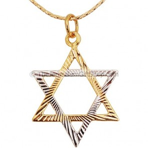 Gold Fill Two Tone Star of David Pendant