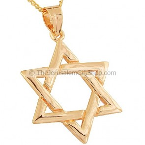 Gold Fill Star of David - Two in One design Pendant