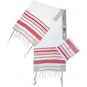 'Grafted In' Messianic Prayer Shawl Tallit - Ladies Pink