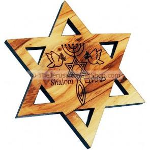 Star of David Grafted In Fridge Magnet